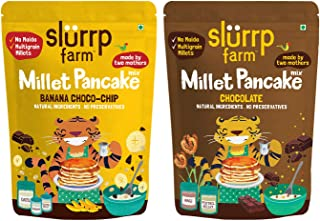 Slurrp Farm Instant Breakfast Millet Pancake Mix, Banana Choco-Chip, Supergrains and Chocolate, Natural and Healthy Food, ...