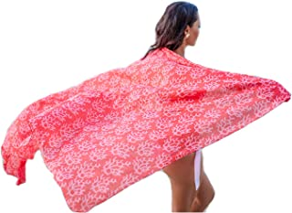 West Indies Wear 100% Pure Cotton Women's Sarong Swimsuit Cover up - Many Colors and Designs