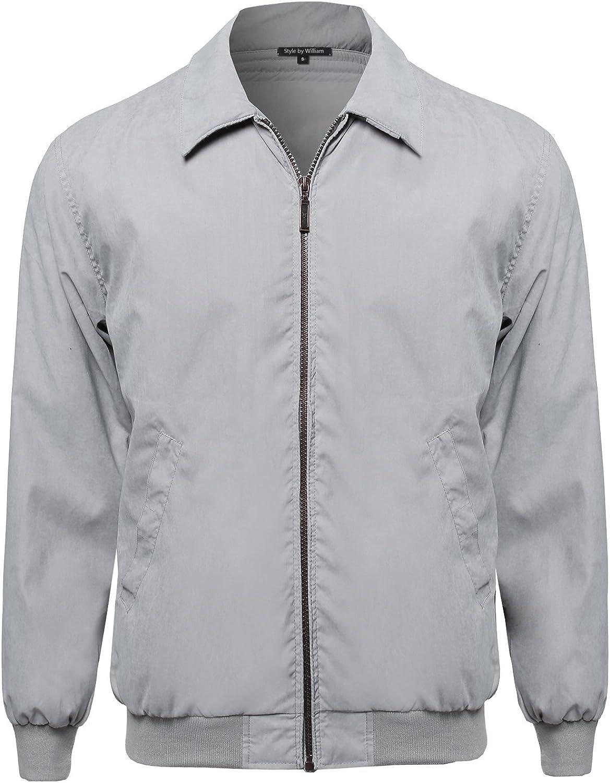 Style by William SBW Men's Lightweight Outdoor Hooded Windbreaker
