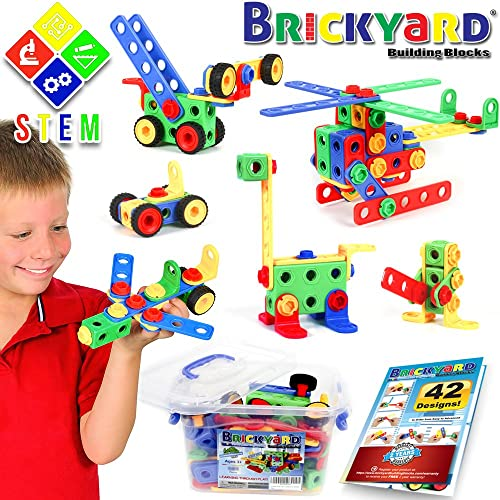 101 Piece STEM Toys Kit | Educational Construction Engineering Building Blocks Learning Set for Ages 3 Year Old Boys Toys: Amazon.com