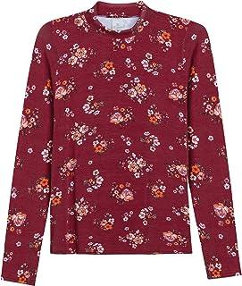Blusa Lecimar em Viscose em Elastano Inverno Floral Dark