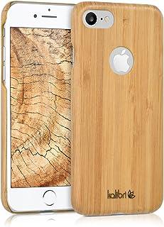 kalibri Funda para Apple iPhone 7/8 - Carcasa Trasera [Ultra Delgada] de [bambú] - Cover Protector [marrón Claro]