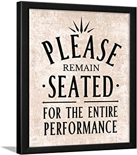 Chaka Chaundh Wall Hanging Bathroom Poster with Quotes Frame (Beige Texture, 34 x 27 x 4 cm)