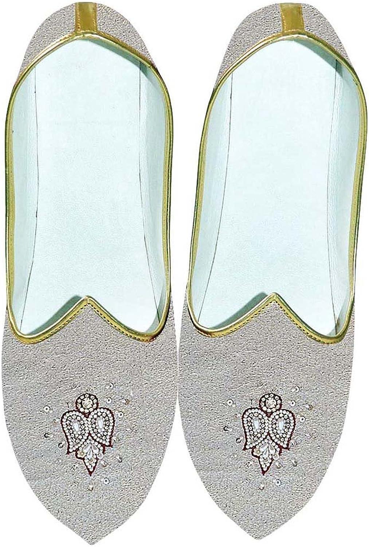 INMONARCH Herren Natürliche Hochzeit Schuhe Bestickt MJ0704