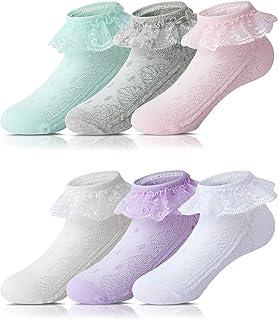 comprar comparacion Adorel Calcetines con Volantes para Bebés Niñas 6 Pares