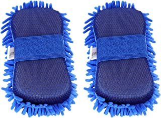 Garneck Luva para lavagem de carro, 2 peças, microfibra, macia, sem arranhões, esponja, coletor, ferramenta de limpeza aut...