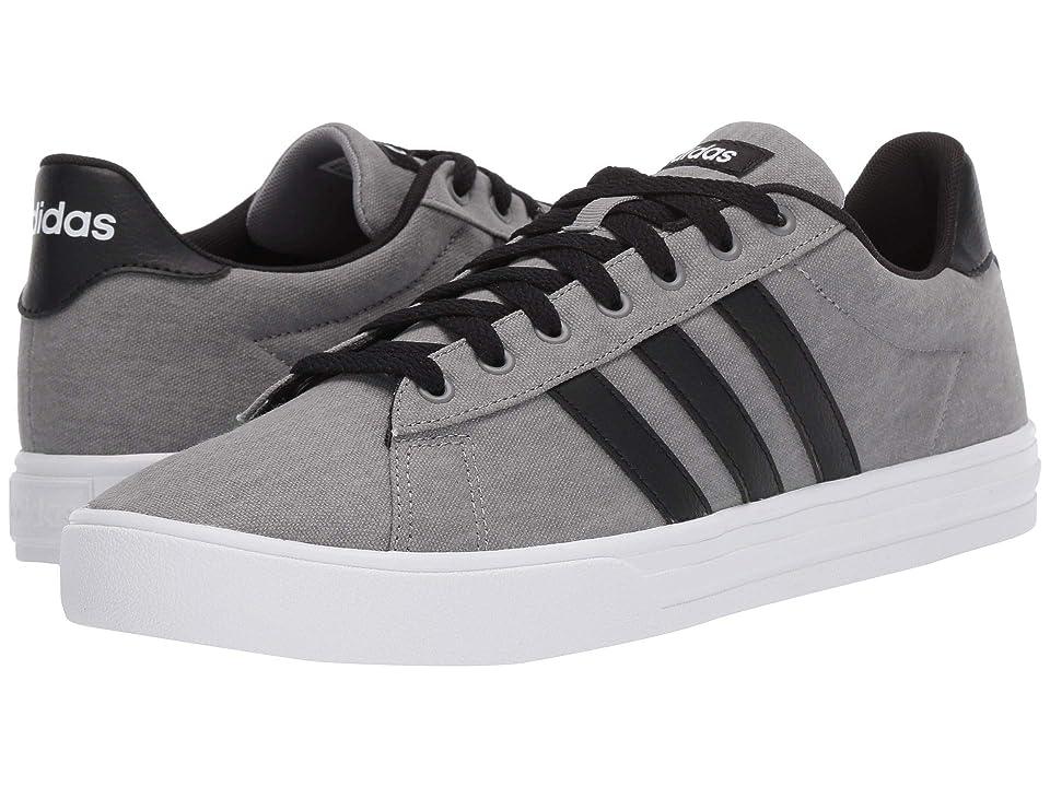 adidas Daily 2.0 (Grey/Black/White) Men's Skate Shoes, Gray