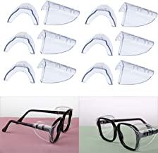 Hub's Gadget 6 Pairs Safety Eye Glasses Side Shields, Slip On Clear Side Shield for Safety Glasses- Fits Small to Medium Eyeglasses