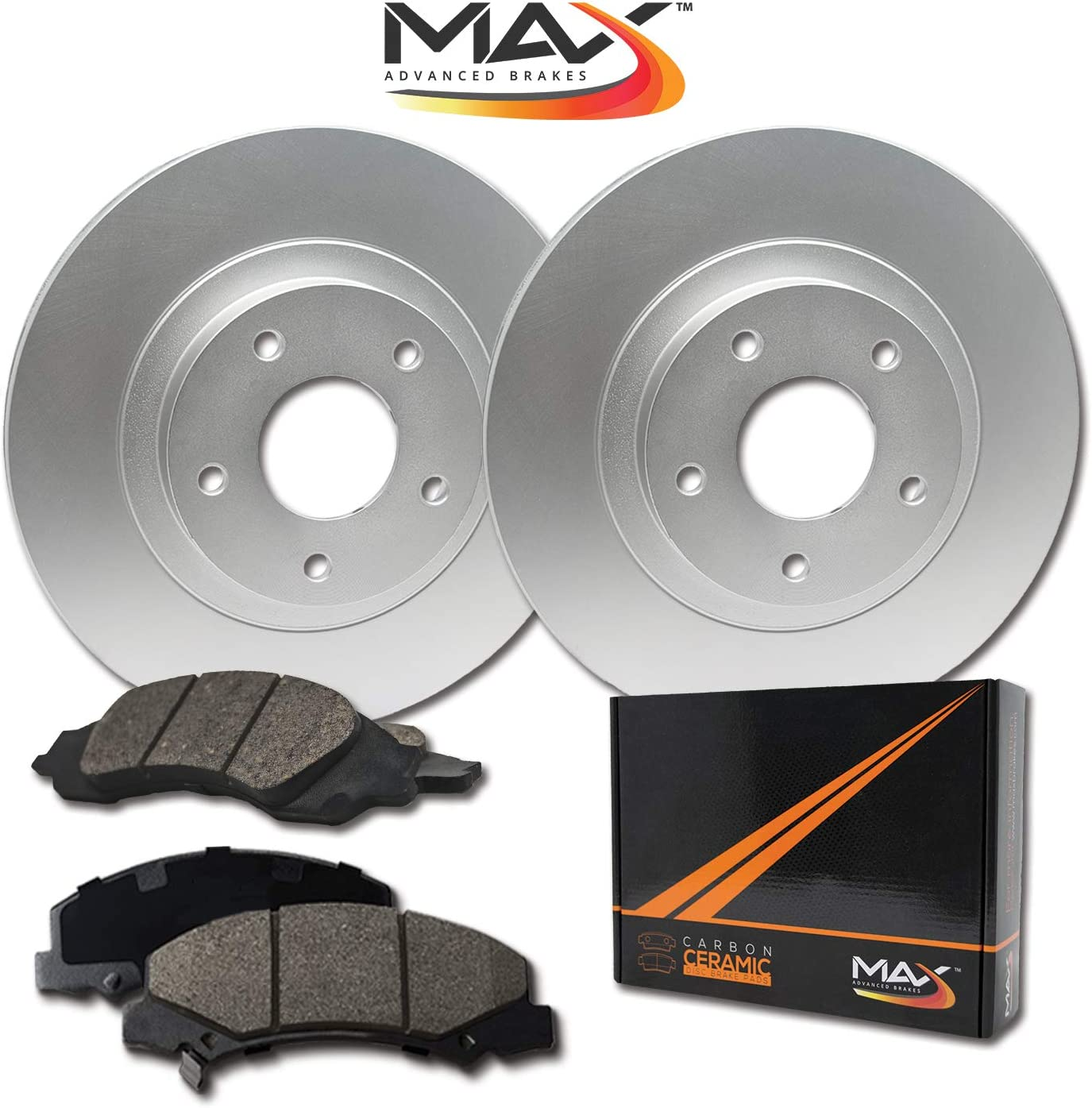 Rear Reservation Max 50% OFF Brakes Geomet OE Rotors Carbon Pads with Ceramic KT09