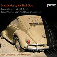 Sinfonias De Los Hijos De Bach: J.C.F. Bach, J.C. Bach, C.P.E. Bach / Bach Concentus - Demeyere