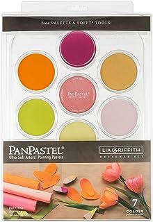 PanPastel 30083 Lia Griffith Flower Coloring 7 Color Ultra Soft Artist Pastel Kit w/Sofft Tools & Palette