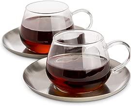Best glass cup saucer set Reviews