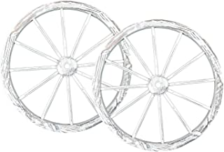 PierSurplus 30 in Wooden Wagon Wheels - Decorative Wall Decor, Set of Two-WHITE