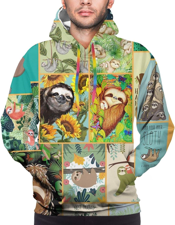 Hoodie For Teens Boys Girls Happy Sloth Life 3d Printed Hooded Sweatshirt