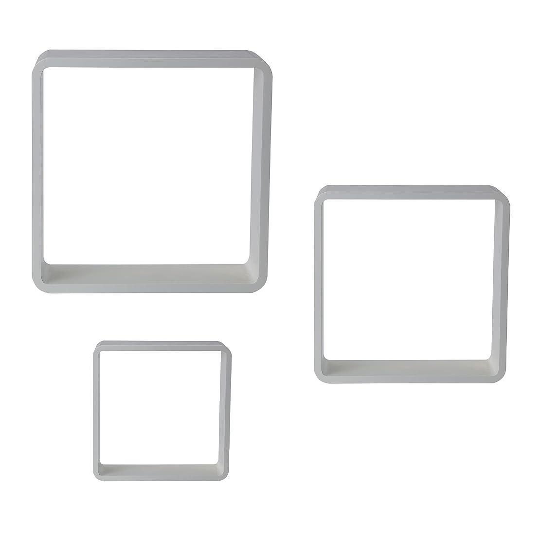無限大宿泊オプショナルStudio Nova高光沢Cubes ( Set of 3?)、ホワイト