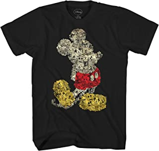 Mickey Mouse Collage Disneyland World Tee Funny Humor Adult Mens Graphic T-Shirt Apparel