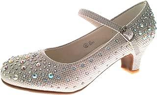 para ni/ñas Lora Dora Zapatos tipo merceditas de fiesta de tac/ón bajo con purpurina