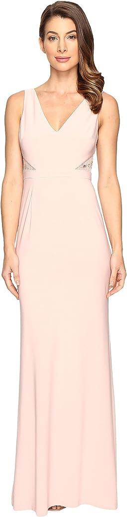 Jersey Sleeveless Gown w/ Cutouts