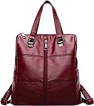 Clearance ? Women Bag JJLIKER Leopard Print Leather School Travel Backpack (Red, One Size)