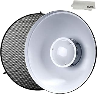 R 21.6 inches//55 Centimeters for Bowens Gemini Standard Neewer Photo Studio Strobe Flash Light Reflector Beauty Dish with Honeycomb Grid and Scrim RX Strobe and More
