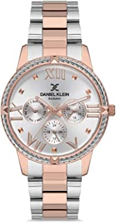 Daniel Klein Exclusive Ladies - Silver Dial Multicolor Band Watch - DK.1.12566-2