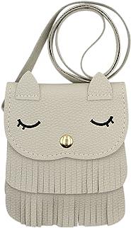 mossty Cute Cat Mini Tassel Bag Satchel Cross Body Bag Coin Candy Purse Messenger Bag
