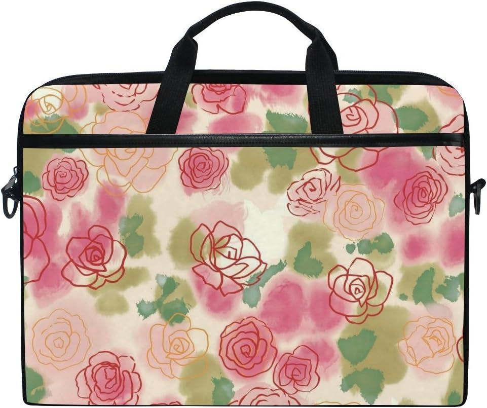 JSTEL Valentine's Day Rose Flower 67% OFF of fixed price Dedication Laptop Messenger Bag Shoulder