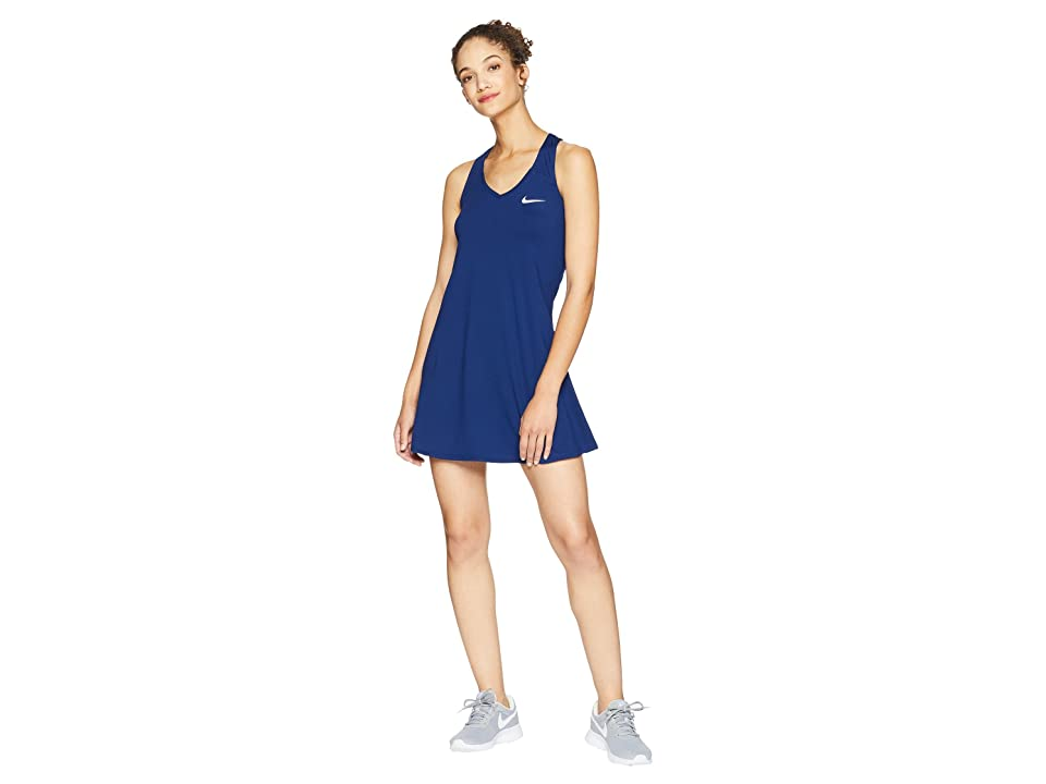 Nike Nike Court Dry Tennis Dress (Blue Void/White) Women