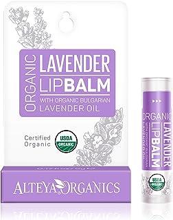 Alteya Organic balsamo labial de lavanda 5 gr – USDA certificado orgánico puro bio producto natural para cuidado labial ba...