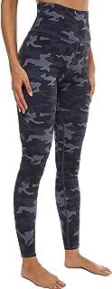 Persit Damen Sport Leggings mit Innentasche - Blickdicht Hoch Taile Yogahose mit Allover-Druck