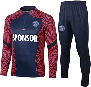2021 Paris Soccer Training Suit Set, Men Adult Football Jersey Winter Kit Sets, Quick-drying Breathable Sportswear With Po...