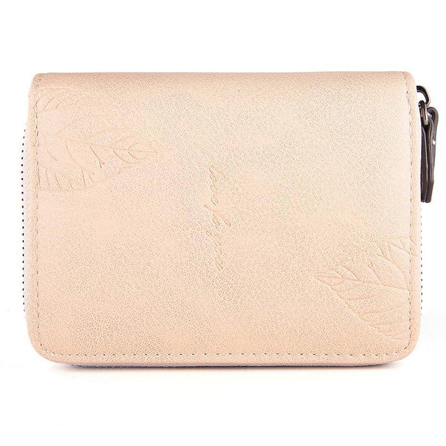 統合桃デッキミニ財布 レディース 二つ折 極小 手のひら ウォレット 小さめ シンプル 軽量 仕切り かわいい 金運アップ 紙幣/カード 上品 プレゼント