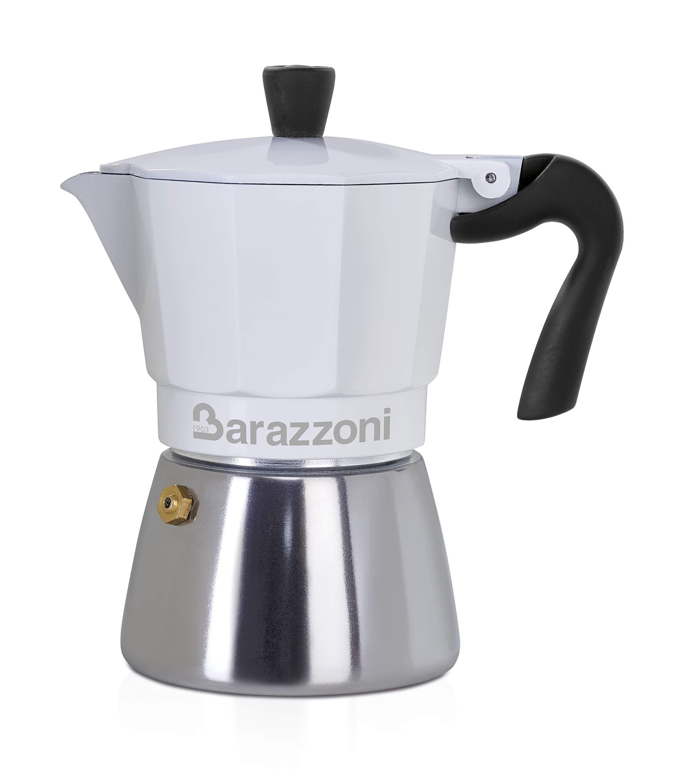 Barazzoni Moka - Cafetera híbrida 6 TZ, apta para inducción, acero ...