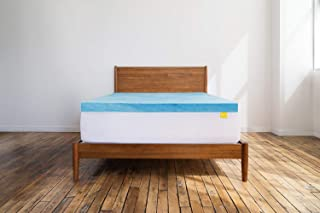 Revel 3-Inch Cool Swirl Gel Memory Foam Mattress Topper (Full), Made in the USA with a 1-Year Warranty, Amazon Exclusive