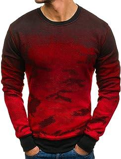 FreeSide Herren Slim Fit Longsleeve Sweatshirt Langarmshirt Freizeit Streetwear
