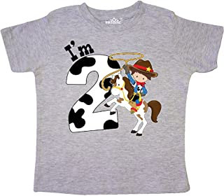 I'm Two-Cowboy Riding Horse Birthday Toddler T-Shirt