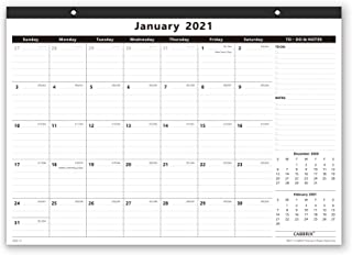 Cabbrix 2021-2022Year Monthly Desk/Wall Calendar, Desktop Calendar for Home Schooling Plan, 17 x 12 Inches, Schedule for O...