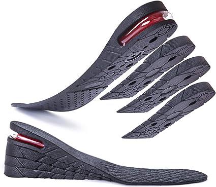 Pair Womens Shoe Insole Air Cushion Heel insert Increase Taller Height Lift 4 cm