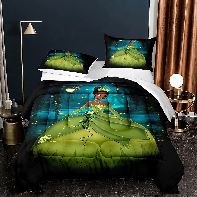 Kiusad Princess and Finally popular brand The Frog Genuine Quilt Cartoon 3D Set Tiana