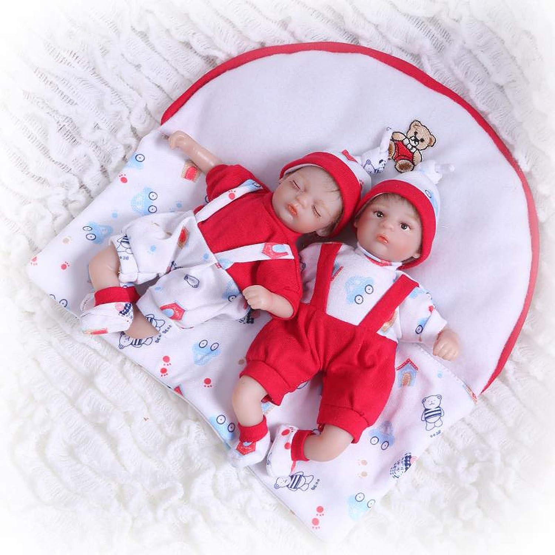 Terabithia 8 inch 20cm Mini Lifelike Couple Reborn Palm Doll in Silicone Vinyl Newborn Baby Dolls Twins