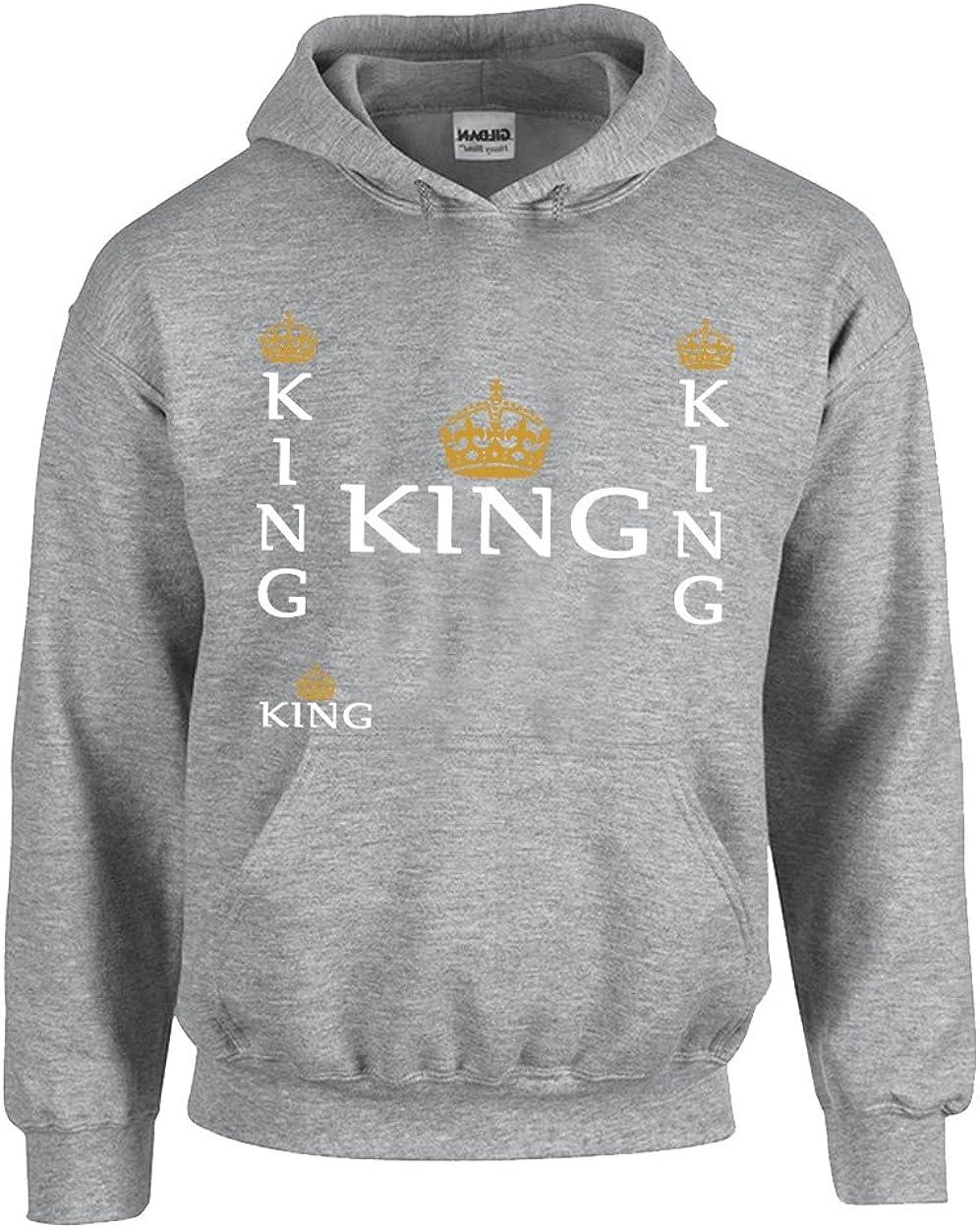 King Design Popular Unisex Pullover Hoodie Hooded Sweatshirt
