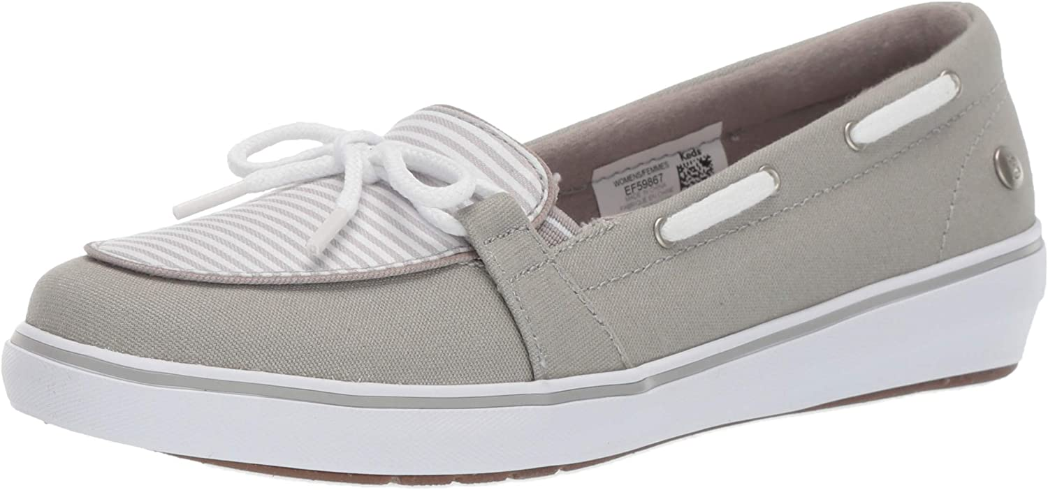 Grasshoppers Womens Windsor Bow Canvas Stripe Sneakers