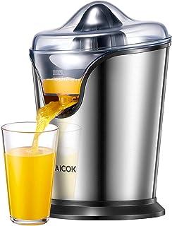 AICOK Exprimidor Eléctrico, Exprimidor Zumo de Naranjas, 100 W, 2 Conos Desmontables, Sistema Antigoteo, Pies Antideslizan...
