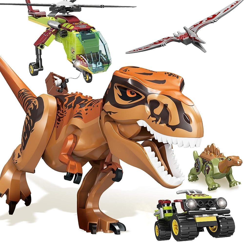 Infant moment giocattolo, set di costruzione di dinosauri con 319 pezzi, con acessori