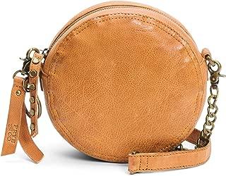 Riley Leather Circle Crossbody Bag