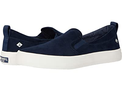 Sperry Crest Twin Gore Brushed Canvas (Navy) Women