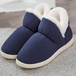 None/Brand Women Plush Home Slippers Indoor High Top Shoes Big Size45 Flat Slipper Woman Winter Shoes Home Warm Shoes