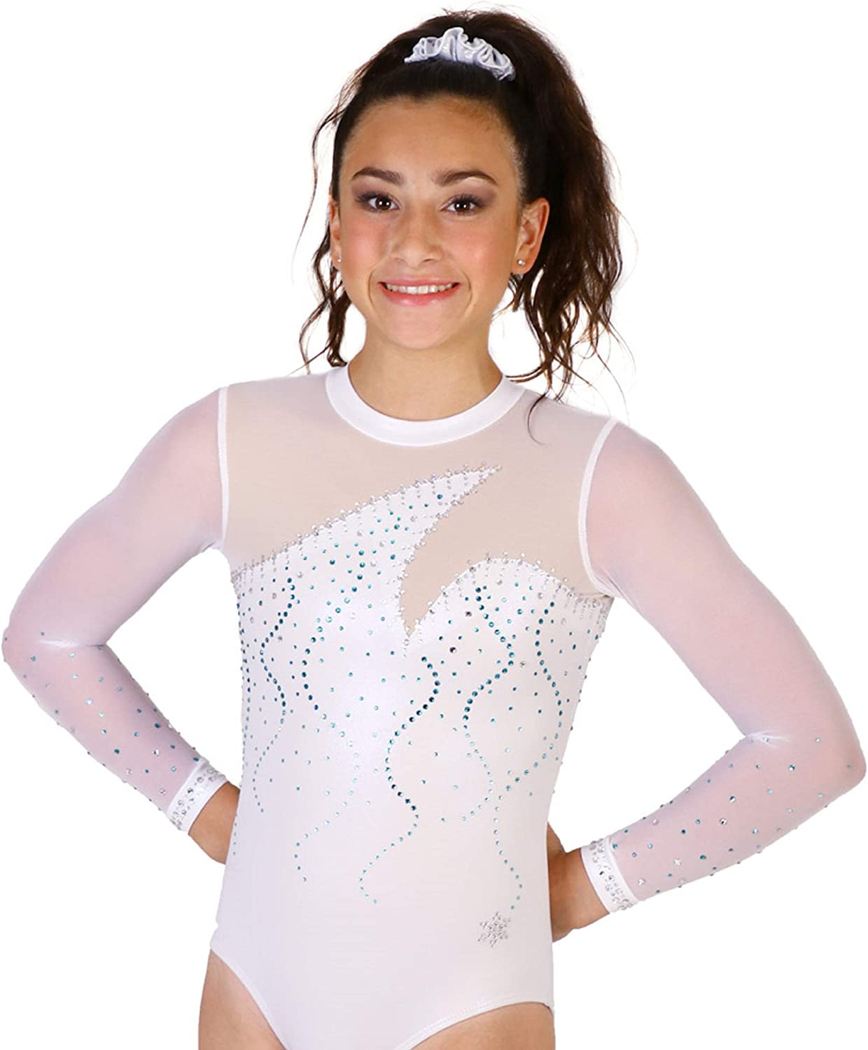 Snowflake Designs Ethereal Gymnastics OFFicial shop Sleeve Le Long Competition online shopping