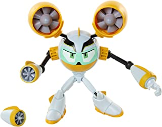 Mega Man Fully Charged – Air Man Articulated Action Figure with Air Man Buster Accessory (to swap onto The Mega Man Figure)! Based on The New Show!