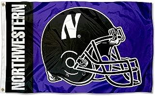 flag on northwestern helmets